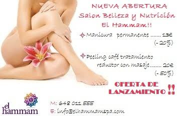 Nueva apertura de salon de belleza y nutricion El Hammam
